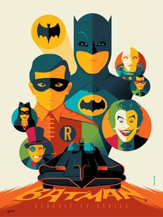 Batman 60's by Tom Whalen