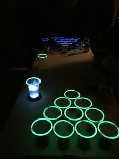 Glow in the dark beer pong                                                                                                                                                      More