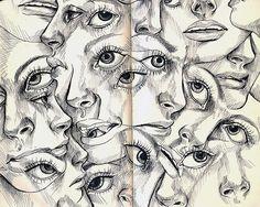 Stephanie Brown - Untitled, 2007 Drawings: Micron Pen on Moleskine Notebook Kunst Inspo, Art Inspo, Art Sketches, Art Drawings, Drawing Drawing, Gcse Art Sketchbook, Sketchbooks, Stephanie Brown, Love Doodles