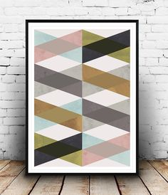 Geometric print, Chevron pattern, Minimalist art, Geometric art, Modern art, Nordic design, Office art, Home wall print, Textured art Dimensions