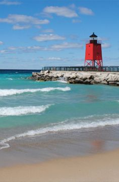 South Pier Lighthouse in Charlevoix, Michigan facebook.com/loveswish
