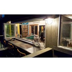 The Tiny House Indoor / Outdoor Dining Table Slash Office Slash Cocktail Bar  #Slashie #TinyHouseBasics #tinyhousenation #tinyhousemovement #tinyhouse #tinyhouses #tinyhome  #tinyhouselife #tinyhouselove #offthegrid #thow #tinyhousejamboree #thj2016 #tiny