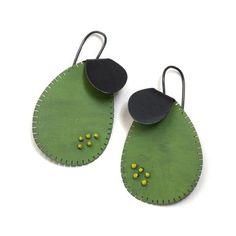 Sprout Disc Earrings by Yuko Fujita