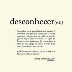 Desconhecer - João Doederlein
