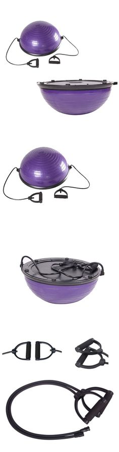 Balance Trainers 179803: 23 Yoga Ball Balance Trainer Fitness Strength Exercise Workout W Pump Purple -> BUY IT NOW ONLY: $38.99 on eBay!