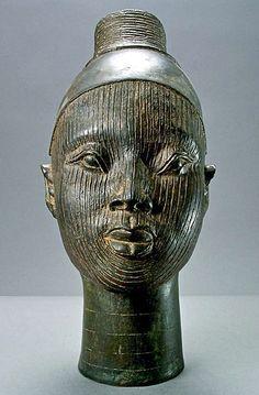 Yoruba female head in bronze, Nigeria, Africa African American Art, African Art, Ghana, African Sculptures, Art Premier, African Masks, African History, West Africa, Tribal Art