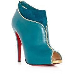 Christian Louboutin Colzippe ankle boots ($1,031) ❤ liked on Polyvore