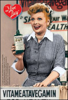 haha one of my favorite I love Lucy shows, vitameatavegamin...
