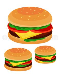 Printable hamburger photo booth prop. Create DIY props with our free PDF template at http://propstoprint.com/download/hamburger-photo-booth-prop/