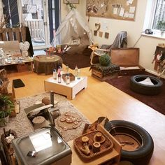 Natural cozy home learning environment
