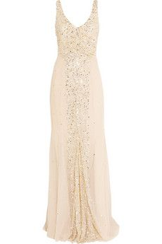 Olivia sequin-embellished tulle gown