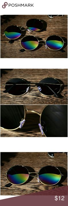 Colorful Vintage Round Mirrored Sunglasses Brand new item. This listing is for one item only. Other colors are available in individual listings. Feel free to ask questions. Accessories Sunglasses