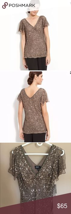 Adrianna Papell 'dazzling wind' sequin top NWT Perfect condition, never worn and purchased at Nordstrom. Beautiful top for a special occasion! Size large. Adrianna Papell Tops Blouses