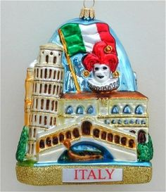 Italian Christmas Traditions Like other European countries, there are ways in which Christmas is celebrated in Italy. And, Italy has many picturesque sructures that have inspired beautiful Xhristmas ornaments.