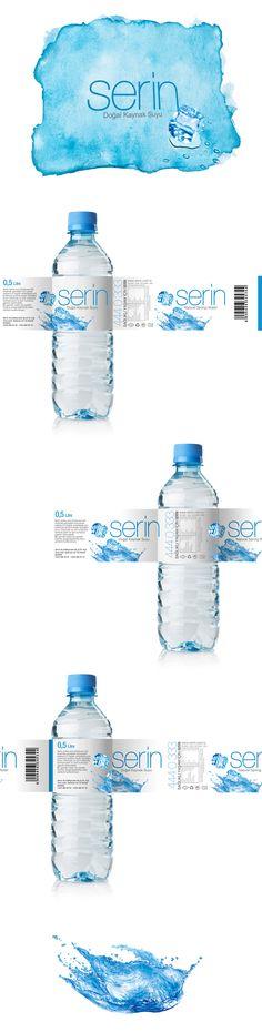 serin su pet şişe ambaj tasarımı / atezer