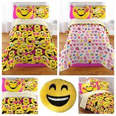 Emoji Complete 5 Piece Girls Bedding Set - Twin //Price: $85.85 & FREE Shipping //     #bedding sets