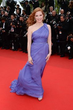 Jessica Chastain wears ELIE SAAB Haute Couture Spring Summer 2014 to the 'Foxcatcher' premiere at the 67th Annual Cannes Film Festival.