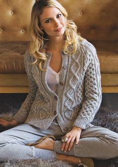 New Favorites: Lena Samsoe's fisherman cardigan - trachtenjacke sitricken Gilet Crochet, Knit Crochet, Pijamas Women, Aran Knitting Patterns, Shawl Patterns, Knitting Ideas, Knit Cardigan Pattern, Cable Cardigan, Cardigans For Women