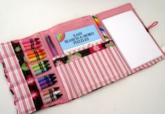 I need to make a big kid version of the crayon roll for Amelia. She loves notebooks and writing utensils!!