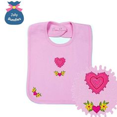 My new super cute embroidered vintage applique bib for your little girl  It is…