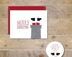 Weihnachtskarte. Karten-Set/Urlaub. von SweetBellaStationery