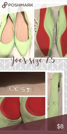 Joe's mint green flats Joe's mint green flats- worn once - size 7.5 Joe's Jeans Shoes Flats & Loafers