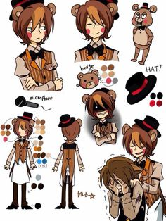 fnaf characters human form - Google Search