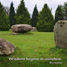 """""""Wisdom begins in wonder. —Socrates  Photo: Stone circle at Kenmare, County Kerry, Ireland. 2012."""