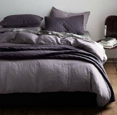 dark purple and grey bedding - Google Search