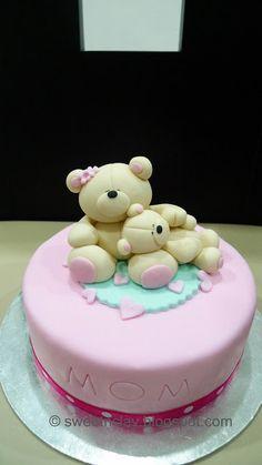 Sweet & Clay: Special Cake for Mom Mom Cake, Cake Boss, Fondant Cakes, Cupcake Cakes, Teddy Bear Cakes, Teddy Bears, Realistic Cakes, Mothers Day Cake, Cakes For Women