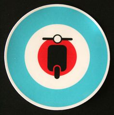 Vespa Mod Sticker PVC Luggage Laptop Bike Italian Scooter Decal British