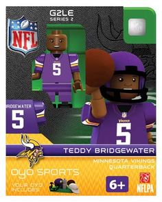 #5 Teddy Bridgewater Minnesota Vikings Quarterback-Limited Edition OYO minifigure