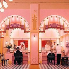 Vogue's pick of the best Wes Anderson interiors, including The Grand Budapest Hotel, The Royal Tenenbaums, The Darjeeling Limited, Fantastic Mr Fox and Moonrise Kingdom. Grand Hotel Budapest, Grand Budapest Hotel Film, Wes Anderson Style, Wes Anderson Movies, West Anderson, Wes Anderson Hotel, Architecture Restaurant, Grande Hotel, Hotel Interiors