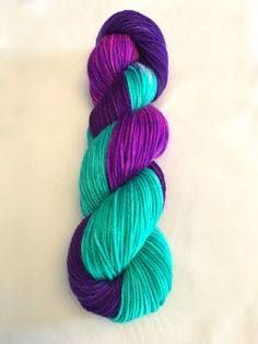 hand dyed yarn, CINDERELLA, sw merino, blue and purple yarn, dyed worsted, dyed DK, dyed fingering yarn, dyed sparkle yarn, acid dyed yarn