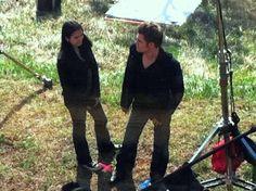 nina dobrev and paul wesley on set  | Paul & Nina On Set - Paul Wesley and Nina Dobrev Photo (22060113 ...