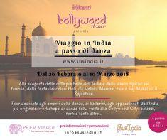 *** SPECIALE: VIAGGIO IN INDIA A PASSO DI DANZA *** ✔️Dal 26 febbraio al 10 marzo 2018✔️ Un tour di 12 giorni dedicato agli amanti della #danza indiana, ma anche a chi vuol visitare l'India per la prima volta. Attraverso le città più emblematiche, parteciperemo a workshop di #khatak, #kalbeliya e #bollywood dance e celebreremo insieme #Holi, la divertente festa dei colori! #Delhi #Agra #Jaipur #Pushkar - #Jodhpur #Udaipur #Mumbai #India