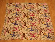 Vintage Jacqmar (Arnold Lever?) scarf featuring ballet dancers and signatures of famous dancers & choreographers.  Rayon?