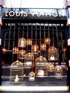 This is an example of shadow box window display of Louis Vuitton.
