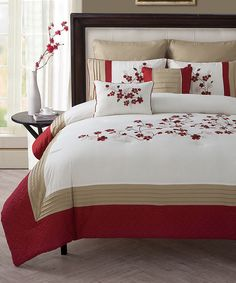 Look at this Cherry Blossom Comforter Set on #zulily today!