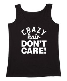 KidTeeZ Black 'Crazy Hair Don't Care' Tank - Girls by KidTeeZ #zulily #zulilyfinds