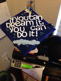 Decorating Graduation Cap Disney Style!! Disney Graduation Cap, Grad Cap, Graduation Cap Decoration, Disney Style, College Life, Nursing, Cakes, Crafty, Decorating