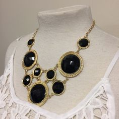 Chunky Black and Gold Statement Necklace I love this Chunky Black and Gold Statement Necklace.  Great! Bold Piece Fashion Jewelry  Jewelry Necklaces