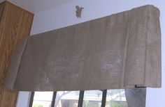 Image detail for -Burlap Straight Bottom Pleated Ends Valance with Rod Pocket Up To 60 . Burlap Window Treatments, Window Coverings, Valance, Curtains, Drapery Designs, Rod Pocket, New Homes, Blue And White, Windows