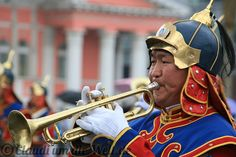 Naadam Festival in Mongolia, trompeteer