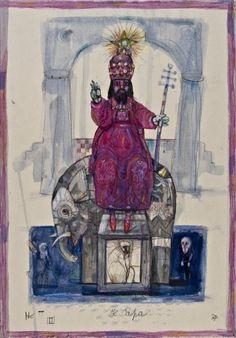 V. The Hierophant - Antonio Possenti Tarot by Antonio Possenti