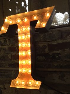 "metal letter sign light fixture rust industrial for one 20"" tall letter"