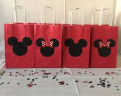 Mickey Mouse Minnie Mouse Goody Bags Candy by LilysPaperParty