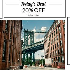 20% OFF New York City, Manhattan Bridge in Brooklyn NYC Photography New York City Skyline Wall Art Home Decor - 12x18 Premium quality METALLIC paper Buy now: https://www.etsy.com/listing/89513690?utm_source=Pinterest&utm_medium=Orangetwig_Marketing&utm_campaign=daily%20sale  Follow us on Pinterest to be the first to see our exciting Daily Deals.   #travelgram #traveldiaries #sightseeing #travelphotography #holiday #wanderlust #roadtrip #adventure #motivation #inspiration #architecture…