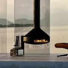 Image result for modern industrial fireplaces
