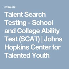 Talent Search Testing - School and College Ability Test (SCAT) | Johns Hopkins Center for Talented Youth